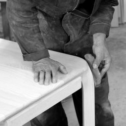workshop-cabinet-maker-hand-sanding